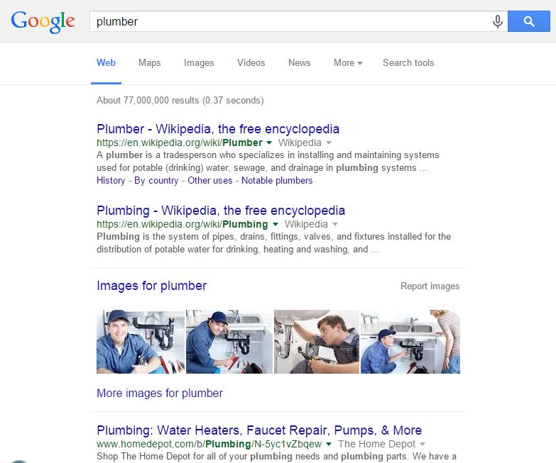 GOOGLE-SERP-PLUMBER-WITHOUT-SEOGLOBAL